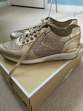 Michael kors Gold Trainers Size 40 with box