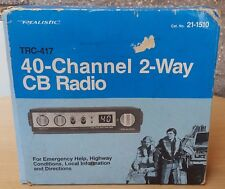 Realistic Cb Radio Trc 417 Citizens Band Model 21-1510 40 Channel 2 Way