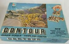 Vintage Contour Textured Raised Surface 500 Piece Jigsaw Puzzle Mountain Side