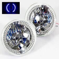 "1986-1995 Suzuki Samurai 7"" Round 6014/6015/6024 Chrome Diamond Headlights Bl..."