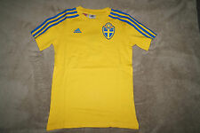 adidas SVFF TEE T-Shirt im Triko-Design Gr.128 7-8Y Schweden Severige F39488