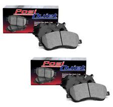 Front + Rear Posi-Quiet Metallic Brake Pads For 2006-2007 Subaru Impreza WRX