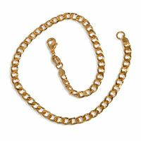 New 9CT Gold Filled Solid Double  Curb  Anklet  B6