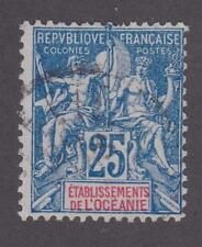 French Polynesia 1900 #12 Navigation and Commerce  - Used