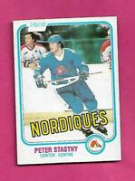 1981-82 OPC # 269 NORDIQUES PETER STASTNY ROOKIE NRMT CARD (INV# C5365)