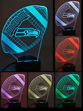 NFL Seattle Seahawks Football Illusion Light Brand New with Free Shipping
