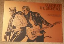 QUEENS OF THE STONE AGE concert gig poster KANSAS CITY 10-13-17 Rogers BRONZE