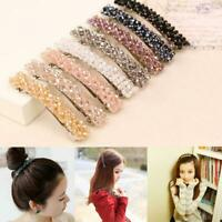 Fashion Girls Headwear Bling Crystal Rhinestone Hair Clip Hairpin Barrette