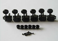 6 Inline Strat Tele Vintage Guitar Tuning Pegs Guitar Tuners Machine Heads Black