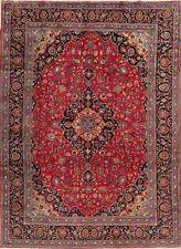 Vintage Floral Kashmar Oriental Area Rug Hand-Knotted Living Room Carpet 8'x11'
