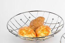 Moderne Dekoschale Obstschale Brotkorb aus Metall silber verchromt Durchm. 29 cm