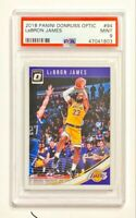 2018-19 donruss lebron james #94 PSA 9 FIRST LAKERS CARD