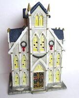 Christmas Church Cathedral Victorian Village Grandeur Noel 1995 Porcelain