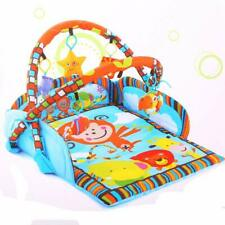 Folding Baby Monkey Activity Gym Play Mat 5 Playful Hanging Gift Center