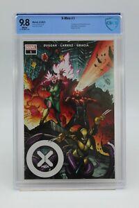 X-Men (2021) #1 Pepe Larraz Cover A Wraparound CBCS 9.8 Blue Label White Pages