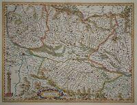 Alsatia superior cu Suntgoia & Brisgoia - Elsaß und Breisgau von Hondius 1630