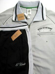 NWT G-UNIT Mens Grey Black Athletic Tracksuit 2Pcs Sz. 3XL Jacket & Pants NYC