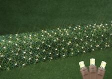 100 Light Christmas LED Net Light Set, 2' X 10', Warm White, Brown Wire