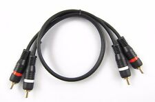 2m Premium 2 RCA to 2 RCA Phono Stereo Audio Cable Cord Male to Male Gold Plated