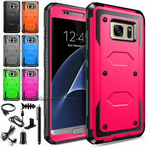 For Samsung Galaxy S7 EDGE Rugged Dual Layer Rubber Phone Case Cover Accessories