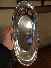 Wilcox American Gadroon Silver Co Oval Bread Tray