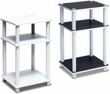 FURINNO Just 3-Tier End Table, 1-Pack, White/White
