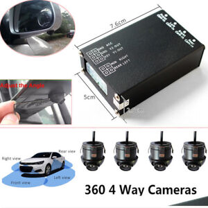 360° Bird View Panoramic System 4 Camera Car DVR Recording Parking Rear View