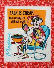 "Funny Maxine Diva Cheap Talk Snack 5"" x 6"" quilt block cotton quilting fabric"