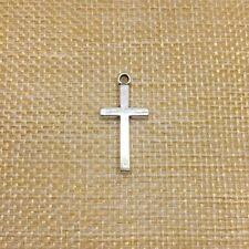 50Pcs Crosses Charms Pendant Antique Silver Jewlery Making Findings 13*27MM 7916