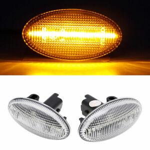 2x LED Side Indicator IN Silver for Citroen Berlingo C1 C2 C3 C4 C5 C6