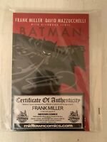 [IN HAND] BATMAN: YEAR ONE GRAPHIC NOVEL HAND-SIGNED BY FRANK MILLER