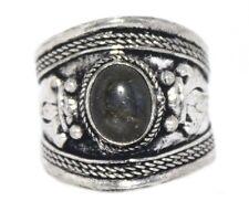Labradorite ring healing ring Silver ring Nepal ring Tibetan ring Boho Ring A