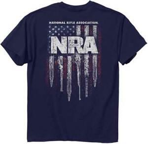 NRA Guns Stripes BLUE Adult T-Shirt