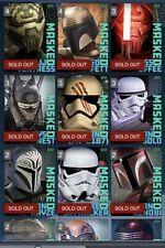 Star Wars Card Trader Blue Unmasked 13 Card Set Plus Both Awards 15 Cards Total