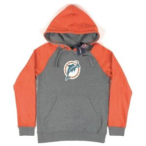 Miami Dolphins NFL Pro Line Fanatics Gray Mens Small Pullover Hoodie Sweatshirt