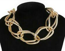 Chunky Chain Gold Necklace Men Women Big Twisted Lock Choker Christmas Jewelry