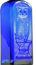 Old OWL DRUG Co bottle original GRANDPAPPY cobalt blue EFFERVESCENT SALTS bottle