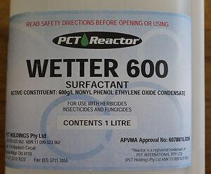 PCT Reactor Wetter 600 Surfactant Wetting Agent 1 Litre