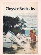 1970 Chrysler Fastbacks PRINT AD Outboard Motors 120hp