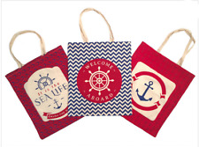 Seaside Canvas Tote Bags Set Of 3 Shopper Beach Gym Grocery Purse 3 Designs