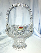 Hofbauer Byrdes Collection 24% Lead Crystal Basket Bleikristall West Germany