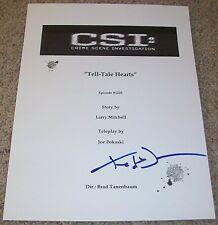 TED DANSON SIGNED CSI CRIME SCENE INVESTIGATION TELL-TALE HEARTS SCRIPT w/PROOF