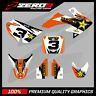 HONDA CRF 50 MOTOCROSS GRAPHICS MX GRAPHICS KIT DECAL KIT ROCKSTAR ORANGE WHITE