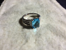 David Yurman Petite Wheaton Blue Topaz Ring