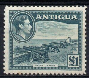 Antigua 1938 £1 slate green sg109 MM