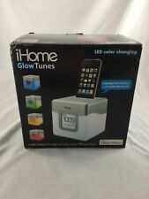 iHome IHM28 COLOR CHANGING ALARM CLOCK WITH FM RADIO & USB CHARGING-GOOD USED