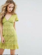 NWT Foxiedox Ladies Small UK 8/10 Grass Green Sleeveless Lace Dress FA414DR