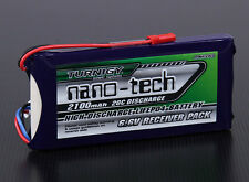 Turnigy Nano-Tech 2100mAh 2S 6.6v 20C-40C LiFePo4 Receiver Battery Pack JST Heli