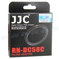 JJC Lens Filter Adapter Mount 58mm for Canon G1X FA-DC58C ABS protect lens