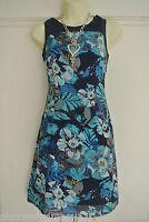 NEW Ex Per Una Blue White Yellow Floral Mini Dress / Tunic 8 10 12 14 16 18